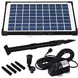 Agora-Tec® AT-10W Solar Teichpumpe 10 Watt, Hmax.: 600l/h...