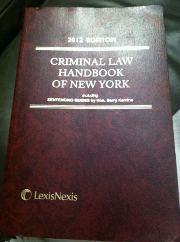 Criminal Law Handbook of the State of New York