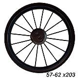 Bebetto-Kinderwagen 12,5 Zoll Felge schwarz mit Kugellager für Reifen 57 x 303, 62 x 203