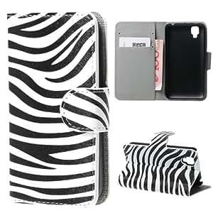 Wiko Coque/étui de protection pour téléphone portable, Goa, Cuir synthétique - Zèbre