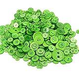 Demarkt Harz Knöpfe zum Basteln DIY Material 7-28MM 660 Stück Grün Serie (Grün)