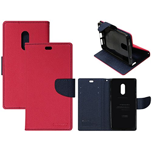 Casotec Mercury Fancy Diary Wallet Flip Case Cover for Xiaomi Redmi Note 4 - Red / Blue  available at amazon for Rs.399
