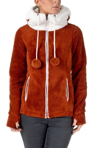 Sublevel Teddy Veste polaire avec les yeux Marron - Brown - Middle Brown