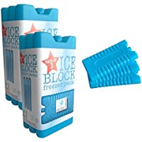 6bloques de material no tóxico para el congelador en 3 colores., azul