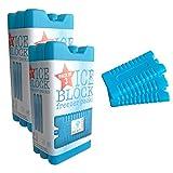6non toxique Congélateur blocs-en 3couleurs Bleu Bleu