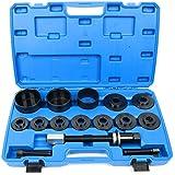 FreeTec 19pièces Kit d'outils de roulement de roues Outil extracteur de moyeu ausdrücker Montage Démontage Pour VW Audi Ford Opel Fiat BMW