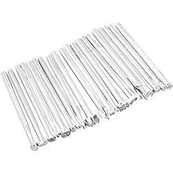 20 piezas de cuero que estampa de una silla de trabajo que hace las herramientas de cuero de grabación en relieve Craft sello talla haciendo hechas a mano de las herramientas del arte conjunto del palillo