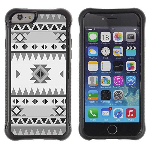 Graphic4You BEIGE TRIBAL Muster Shockproof Anti-Rutsch Weichen Hülle Case Tasche Schutzhülle für Apple iPhone 6 / 6S Design #8