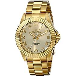 INVICTA 16739 - Reloj de cuarzo para mujer, correa de acero inoxidable chapado color dorado