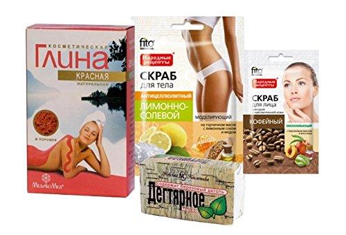 cura-del-corpo-kit-red-cosmetica-argilla-100g-medikomed-tar-soap-bar-nevacosmetic-140g-cofee-viso-sc