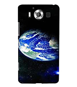 PrintVisa Beautiful Earth Design 3D Hard Polycarbonate Designer Back Case Cover for Nokia Lumia 950