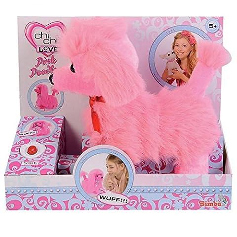 SIMBA Chi Chi Love Pudel läuft und bellt ferngesteuert pink oder rosa 24 cm Haustier NEU, (Simba Chi Chi)