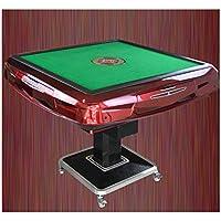 LHLH Automatic Mahjong Table Chess Cards Mahjong Set & Racks & Game Jongg Se Puede Derrumbar Automático Juego Interesante Desarrollar Inteligencia Aumentar La Amistad 100W 220V 95 * 105Cm 144X,Red