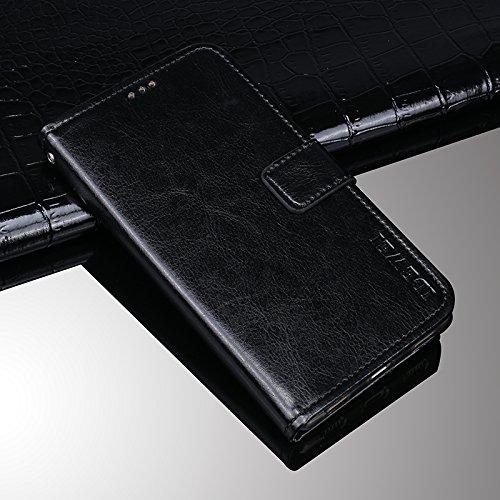 Huawei P20 Pro Funda Faux Cuero Billetera Funda para Huawei P20 Pro con Stand Funci  n Negro