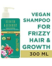 Nuray Naturals Vegan Hair Growth Keratin Shampoo For Frizzy Hair, Free From Parabens, Silicones & No Mineral Oils, 300 ml…