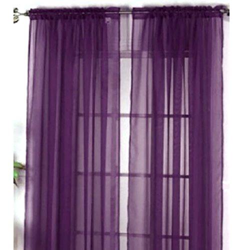 *Topker Rideau de Voilage Voilage Voilage Voilage 100 * 200cm Violet foncé Offre de prix