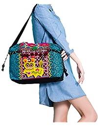 100% Handmade Handbag Purse Satchel Duffle Bag - Fine Oriental Embroidery Art #158