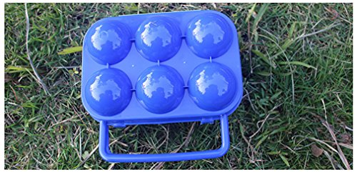 Cftrum 6 portauova custodia da viaggio giardino campeggio plastica arancio pieghevole valigetta, blu