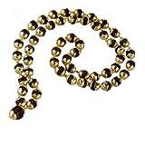 Salvus App Solutions Dark Brown Beads Golden Plated rudraksh mala Or jaap mala, rudraksha mala Original, rudraksha mala for japa, rudraksha mala for Men Original