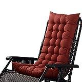 Chlove Stuhlauflage Hochlehner Auflage Sitzauflage Polsterkissen Rückenkissen mit Bänder (125 x 48 cm, Kaffeebraun)