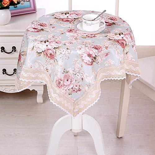 ChuangYing Kleines Quadrat Tisch Tuch Tischdecke runde tischdecke frischen Tee Gartentisch Spitze
