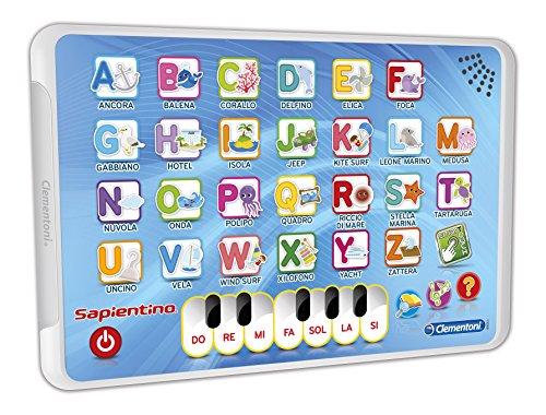 Clementoni- Alphabet K Computer, Tablet E Pad per Bambini Gioco Didattico 733, Multicolore, 8005125132867