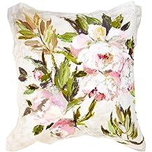 Designers Guild 3359104059214funda de almohada rectangular 50x 75cm diseño floral satén Natural