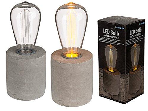 Lámpara decorativa retro la bombilla como LED en cemento sokel