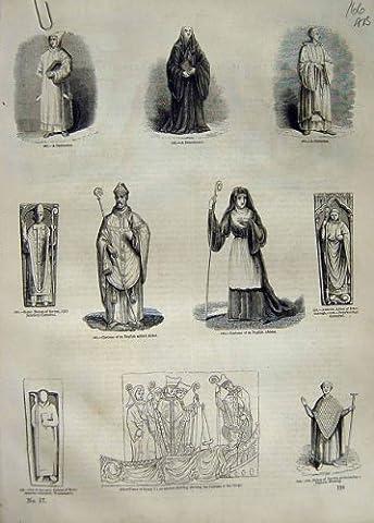 Englischer Kostüm-Bischof Sarum Westminster der Äbtissin-C1890 (Old English Kostüm)
