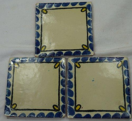 Talavera messicano per piastrelle in ceramica, dipinta a mano, in piastrelle ref.R20 Terracotta messicana, 10,5 (Ceramica Talavera)