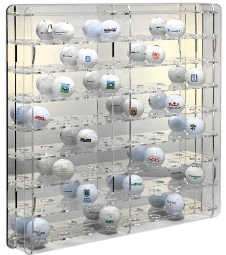 SORA Acrylic Golf Ball Display Case with Mirrored back-panel