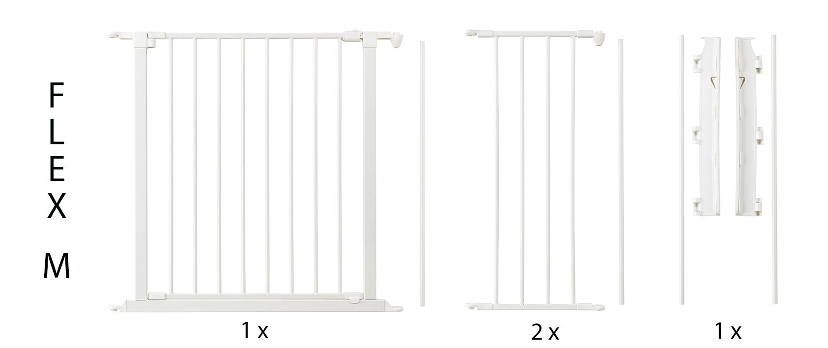 BabyDan Configure (Medium 90-146cm, White)  Only configure system fulfilling newest European safety standard Multi purpose room divider and gate for wider openings Flexible and easy to fit 8