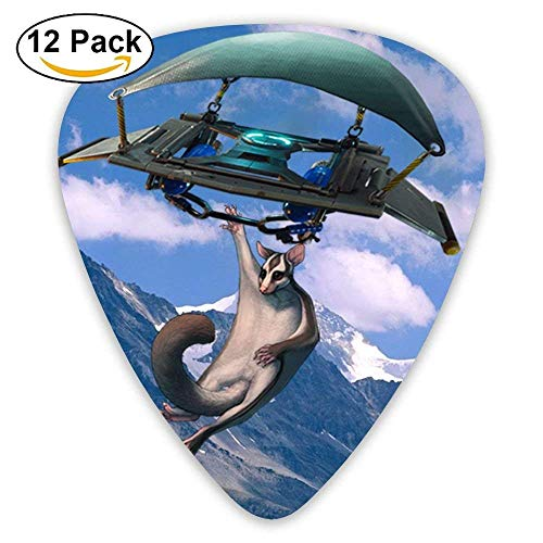 SugarGlider Flew His Glider Over The Snowy Mountains Guitar Pick 12pack - Mountain Glider