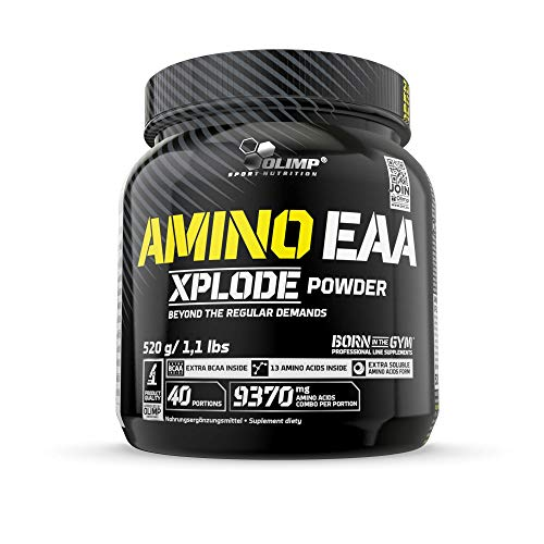 Olimp Amino EAA Xplode Powder | Essentielle Aminosäuren | Fruit Punch Geschmack | 520 g -