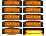 10x Chytaii LKW Seitenleuchten Seiten Licht KFZ LED Blinker Marker Lichter Seitenblinker Auto Markierungsleuchten Seite vorne Outline Clearance Light Indicator Lamp für Truck Trailer Camper Lorry van 12V 24V 5Farbe