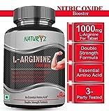 Naturyz L-Arginine-1000mg(Pre-workout tablets), Essential Amino Acid, 60 Tablets