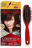 #8: Revlon Colorsilk Hair Color, 200g, Dark Mahogany Brown 3RB with Free Hair Brush