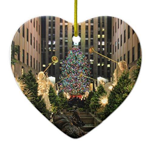 ler Dekoelement Weihnachtsbaum Engel H Herz Porzellan Geschenk 7,6 cm ()