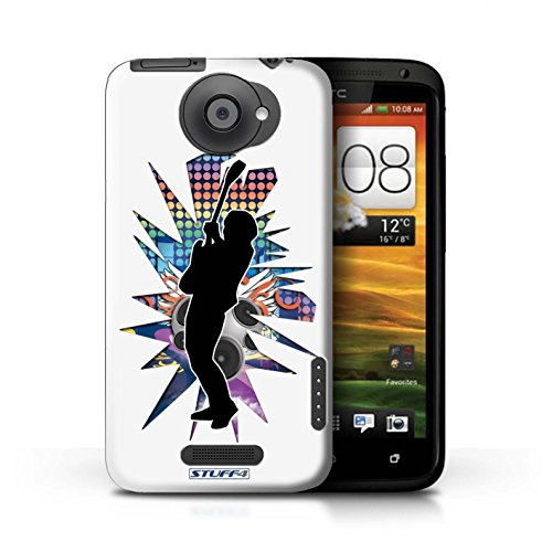 Kobalt® Imprimé Etui / Coque pour HTC One X / Rock n Roll Noir conception / Série Rock Star Pose Hendrix Blanc