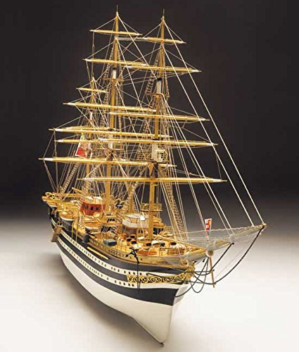Mantua Modelle Amerigo Vespucci italienische Marine Modell Schiff Holzhaus Bausatz Maßstab 1: 100