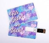 Witziger USB Stick im Visitenkartenformat, Scheckkarte, Kreditkarte, 4 GB, Herzen
