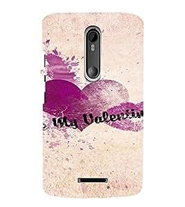 PrintVisa Be My Valentine Design 3D Hard Polycarbonate Designer Back Case Cover for Motorola Moto X3
