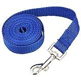 SODIAL(R) Schleppleine Faehrtenleine Suchleine Feldleine Leine Ausbildungsleine Hundeleine Farbe:blau Laenge:3m