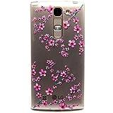 Voguecase® Para LG Magna/LG G4c ultra-slim fit TPU Funda de Silicona de Gel Carcasa Tapa Case Cover (Flor de ciruelo 01) + Gratis aguja de la pantalla stylus universales