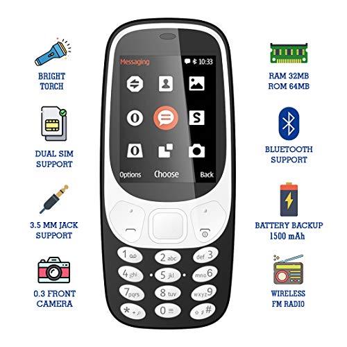 IKALL K36 2.4 Inch Display Multimedia Phone (Black)