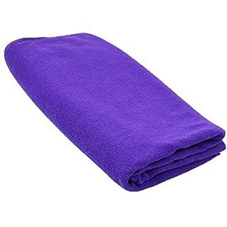 SODIAL(R) Durable Fast Drying Microfiber Bath Towel Travel Gym Camping Sport purple