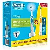 Oral-B Vitality Plus TriZone - Cepillo de dientes eléctrico recargable, 2 unidades
