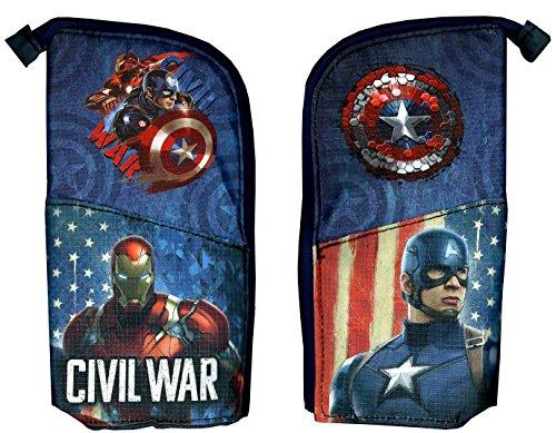 Marvel Civil War Captain America & Iron Man Pencil Case Holder