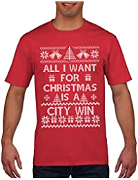 Football T Shirt All I want for Christmas is a CITY WIN T Shirt
