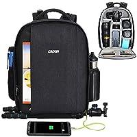 cd9cd874e7 ... Borsa Alta Capacità Borsa Fotografica,CADeN Professionale Impermeabile  Camera Bag Zaino con Porta di Ricarica USB Parapioggia per Sony Canon Nikon  Lens ...